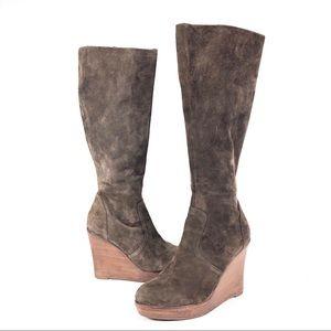 Steve Madden Manntra suede platform wedge boots